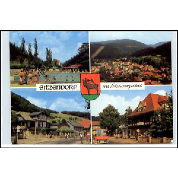 SITZENDORF Schwarzatal Thüringen 1986 DDR Mehrbild-AK ua. Hotel Zur Linde uvm. #1 image