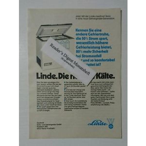 Werbeanzeige/advertisement A5: Linde maxifrost 3000 Gefriertruhe 1980(041016213) #1 image