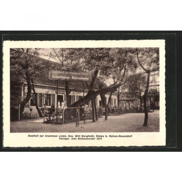 alte AK Stolpe, Gasthaus zur krummen Linde 1934 #1 image
