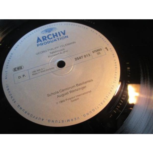 WENZINGER - TELEMANN Table Music 3 CTOs - LINDE BRANDIS, ARCHIV resonance STEREO #2 image