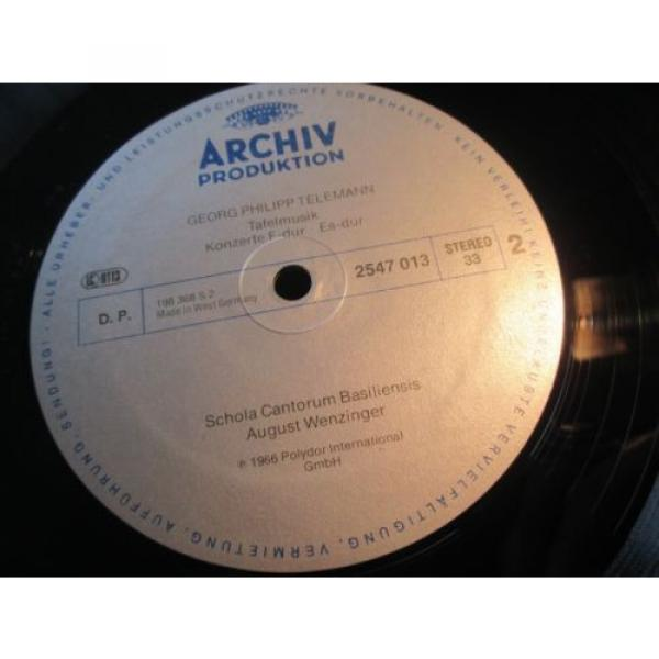 WENZINGER - TELEMANN Table Music 3 CTOs - LINDE BRANDIS, ARCHIV resonance STEREO #3 image