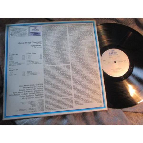 WENZINGER - TELEMANN Table Music 3 CTOs - LINDE BRANDIS, ARCHIV resonance STEREO #4 image