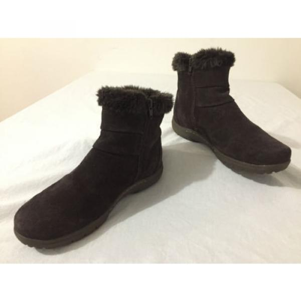 BearTraps 'Cammy' Ankle Boots Brown Suede Faux Fur Linde Size 7.5M #1 image