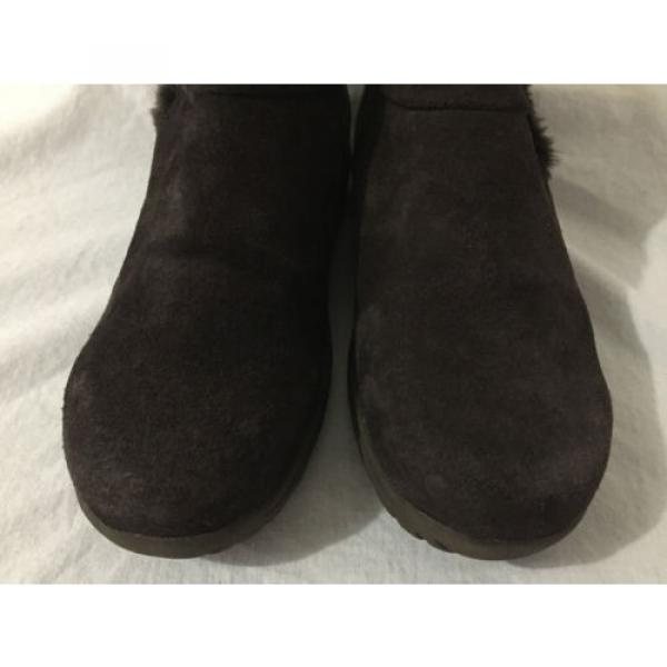 BearTraps 'Cammy' Ankle Boots Brown Suede Faux Fur Linde Size 7.5M #3 image