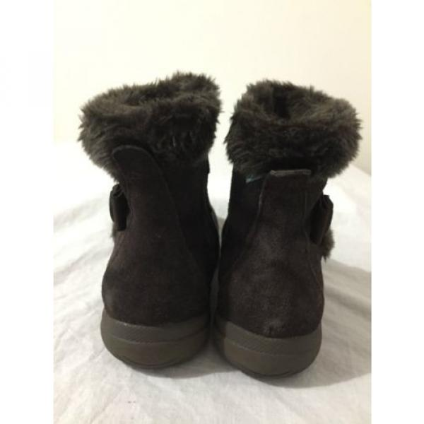 BearTraps 'Cammy' Ankle Boots Brown Suede Faux Fur Linde Size 7.5M #6 image
