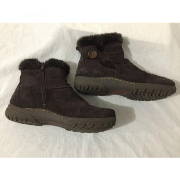 BearTraps 'Cammy' Ankle Boots Brown Suede Faux Fur Linde Size 7.5M #7 image