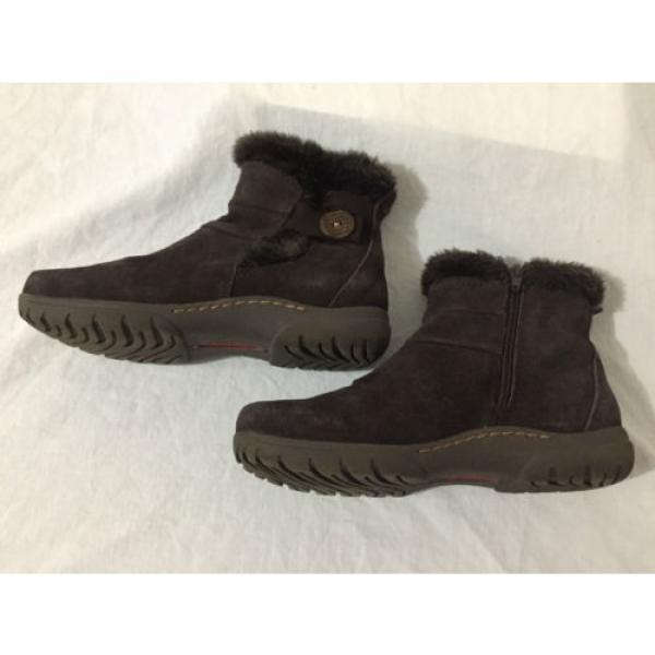BearTraps 'Cammy' Ankle Boots Brown Suede Faux Fur Linde Size 7.5M #8 image