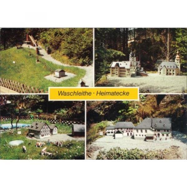 """Waschleithe Grünhain Beierfeld  Kirche, Niedere Mühle, Gasthof """"Zur Linde"""" 1990 #1 image"""