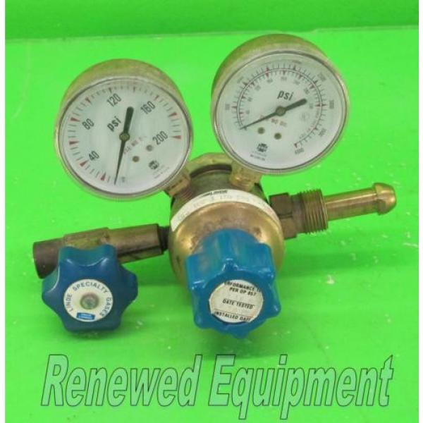 US Gauge BU-2581-AQ Gauge Set with Linde E4 Regulator #9 #1 image