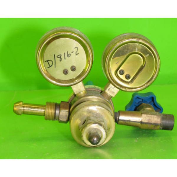 US Gauge BU-2581-AQ Gauge Set with Linde E4 Regulator #9 #2 image
