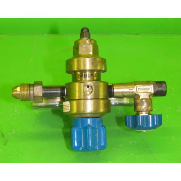 US Gauge BU-2581-AQ Gauge Set with Linde E4 Regulator #9 #3 image
