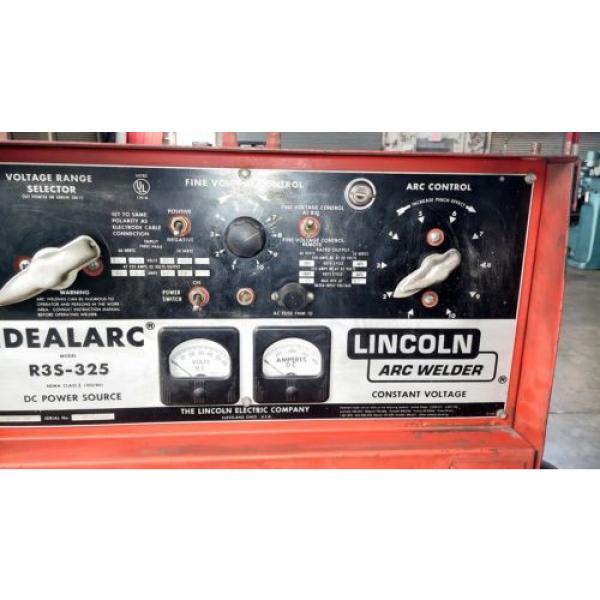 LINCOLN IDEALARC R3S-325 DC MIG WELDER W/ LINDE SPOOL GUN FOR ALUMINUM WELDING #2 image