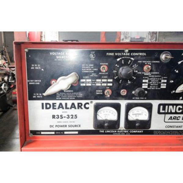 LINCOLN IDEALARC R3S-325 DC MIG WELDER W/ LINDE SPOOL GUN FOR ALUMINUM WELDING #9 image
