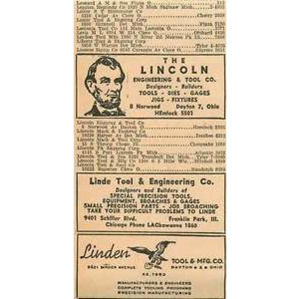 1946 Linde Tool Engineering Franklin Park Licoln Dayton Ohio Ad #1 image