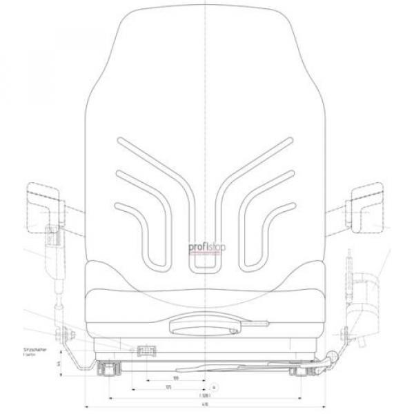 Grammer Msg 20 Narrow Fabric Seat Forklift Reach Truck Jungheinrich Still Linde #2 image