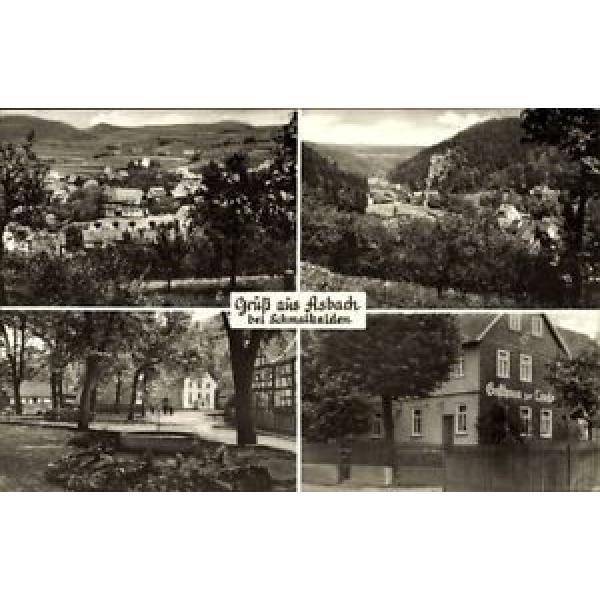 Ak Asbach Schmalkalden, Gasthaus zur Linde, Stadtpanorama, Allee - 1550818 #1 image