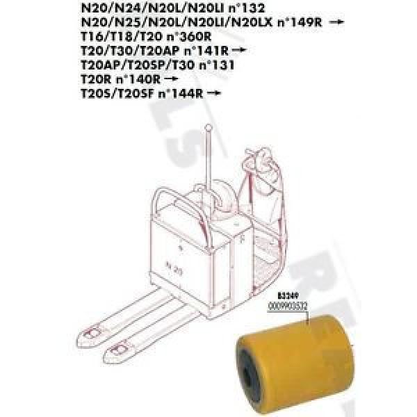 GALET 85 105 110 20 mm TRANSPALETTE FENWICK LINDE N20L N20LI N°132 PIECES #1 image