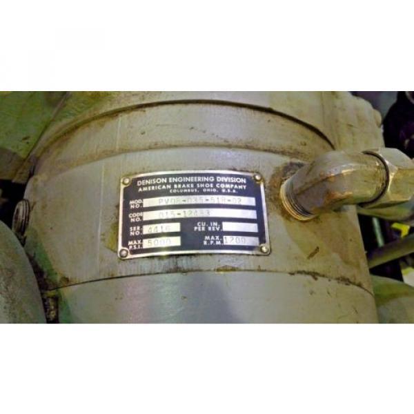 RX-3094, DENISON HYDROILICS 100HP POWER UNIT / PACK 5000 MAX PSI 1200 MAX RPM #10 image