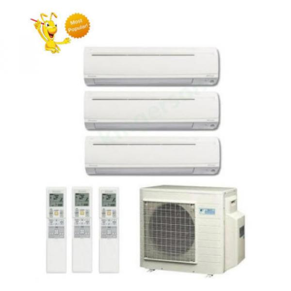 9k + 9k + 12k Btu Daikin Tri Zone Ductless Wall Mount Heat Pump Air Conditioner #1 image