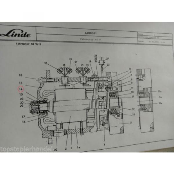 Needle Roller Bearings Warehouse Traction Motor 42x30 Linde No. 009248270 Type #2 image