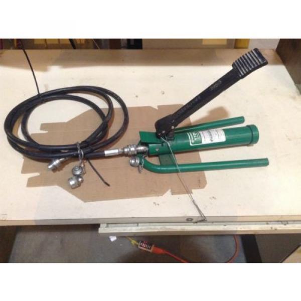 Greenlee 1725 Hydraulic Foot Pump With 10' Hydraulic Hose #1 image