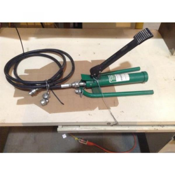 Greenlee 1725 Hydraulic Foot Pump With 10' Hydraulic Hose #2 image