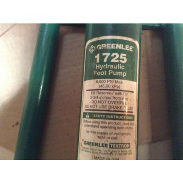 Greenlee 1725 Hydraulic Foot Pump With 10' Hydraulic Hose #3 image