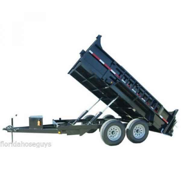 DUAL CYLINDER 6' x 12' Dump Trailer Kit with single acting SPX Pump #3 image