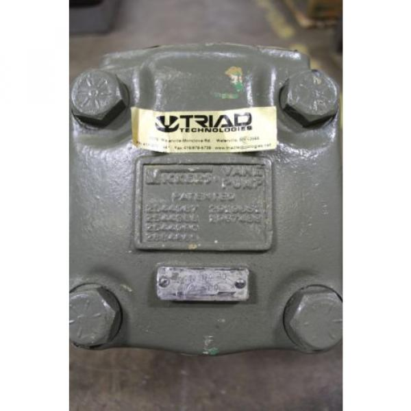 """REBUILT VICKERS 45V50A 1D CL 180 ROTARY VANE HYDRAULIC PUMP 3"""" INLET 1-1/2"""" OUT #3 image"""