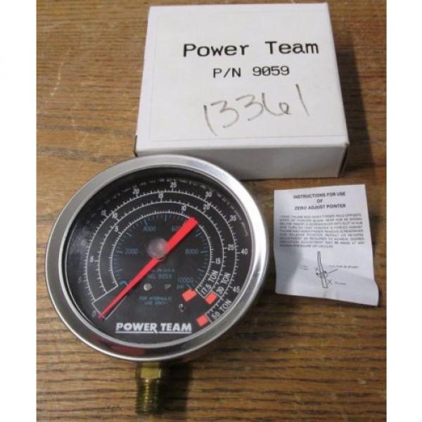 NEW NOS Power Team SPX 9059 Hydraulic Pressure Gauge #1 image
