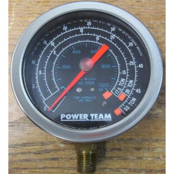 NEW NOS Power Team SPX 9059 Hydraulic Pressure Gauge #2 image