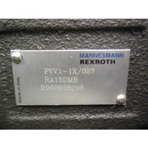 NEW Canada Australia BOSCH REXROTH VANE PUMP MODEL # PVV1-1X/027RA15DMB #3 image