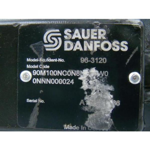 SAUER DANFOSS AXIAL PISTON HYDRAULIC MOTOR 1.74 SHAFT 90M100NC0N8N0F1 #5 image