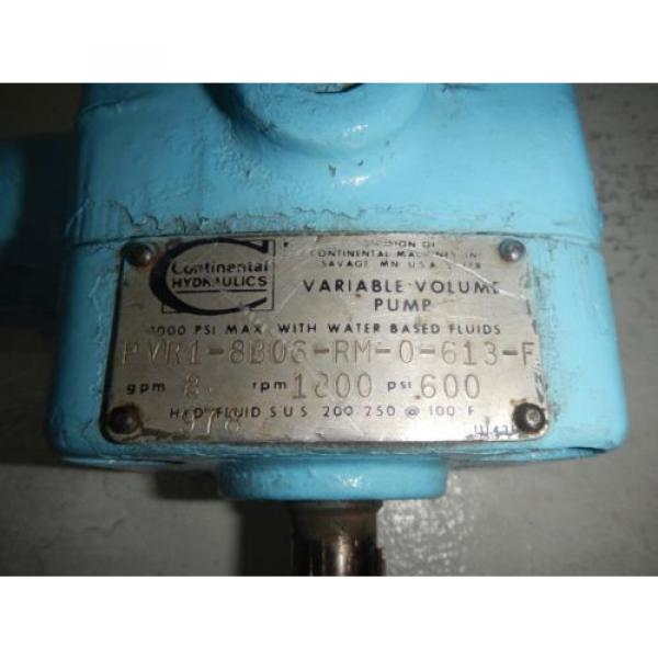 Continental PVR1-8B06-RM-0-613-F 8GPM Hydraulic Press Comp Vane Pump #2 image