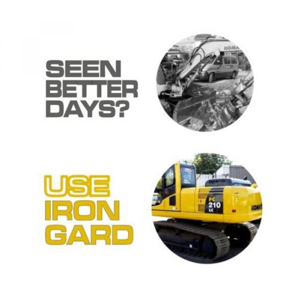 6x IRON GARD Spray Paint KOMATSU YELLOW Excavator Digger Dozer Loader Skid Steer #4 image