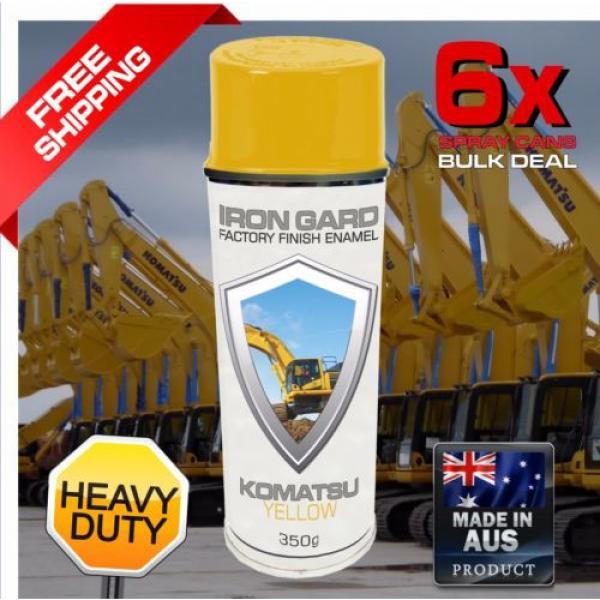 6x IRON GARD Spray Paint KOMATSU YELLOW Excavator Digger Dozer Loader Skid Steer #1 image