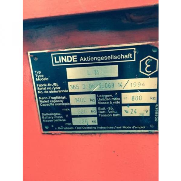Electric Hydraulic Pump & Reservoir  from 1994 Linde L14 Fork Lift. Breaking. #2 image