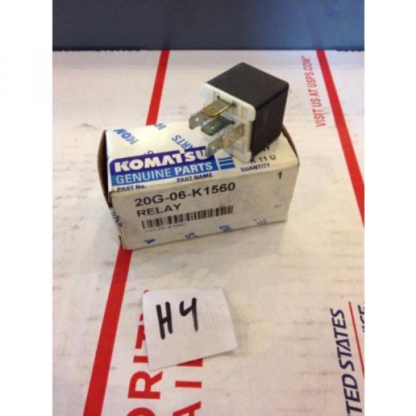 New OEM Komatsu Genuine Parts Relay 20G-06-K1560 Warranty! Fast Shipping! #1 image