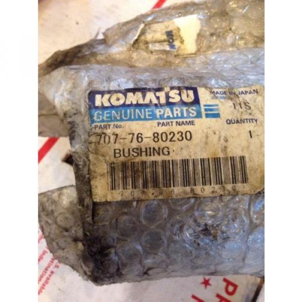 New OEM Komatsu Excavator Genuine Parts Bushing 707-76-80230 Fast Shipping! #2 image