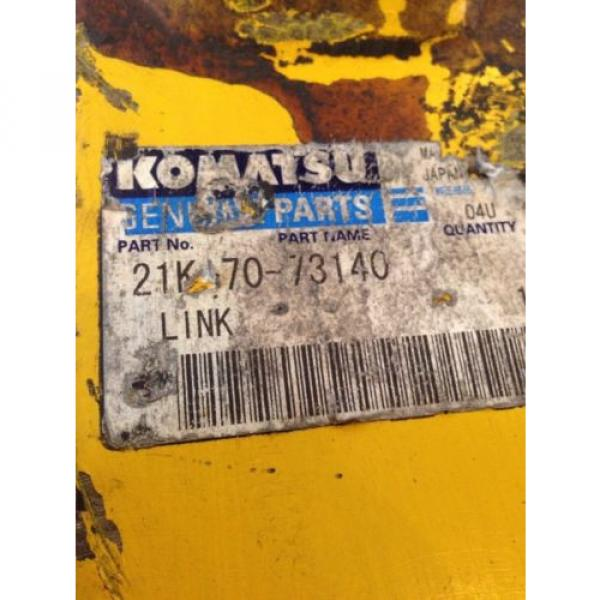 New OEM Komatsu Genuine PC160 Excavator Bucket Link 21K-70-73140 Warranty! #3 image
