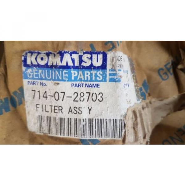 New Komatsu Filter Ass'y 714-07-28703 / 7140728703 Japan #2 image