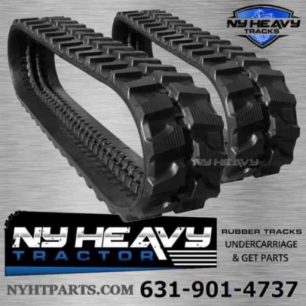 TWO NY HEAVY RUBBER TRACKS FITS KOMATSU PC28-1 300X52.5X80 FREE SHIPPING #1 image