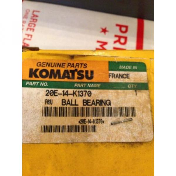 New OEM Genuine Komatsu PC Excavator Ball Bearing 20E-14-K1370 Fast Shipping! #3 image