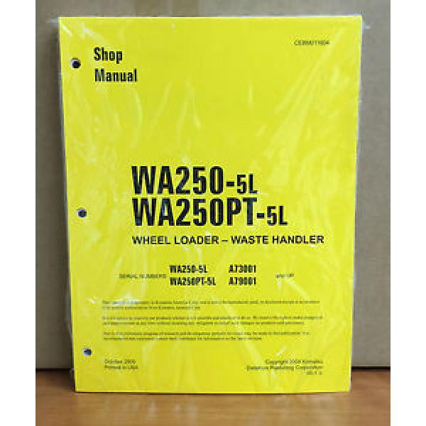 Komatsu WA250-5L, WA250PT-5L Wheel Loader Waste Handler Shop Service Manual #1 image