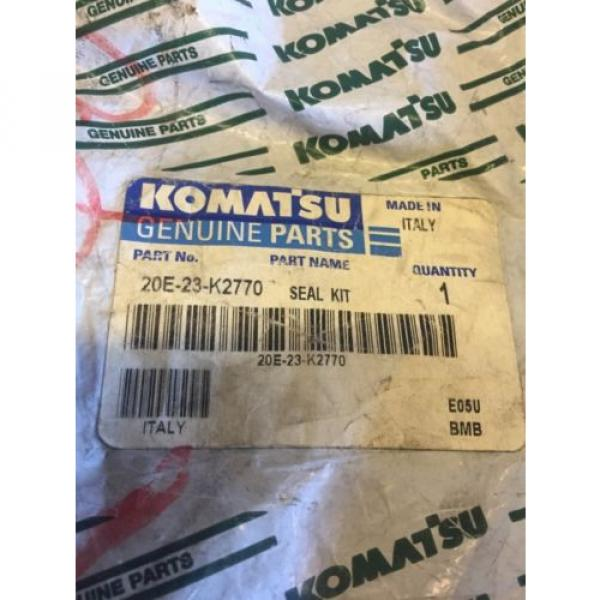 New OEM Genuine Komatsu PC Series Excavators Seal Kit 20E-23-K2770 Warranty! #2 image