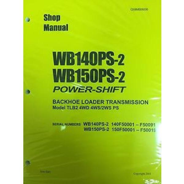 Komatsu Service WB140PS-2, WB150PS-2 Backhoe Manual #1 image