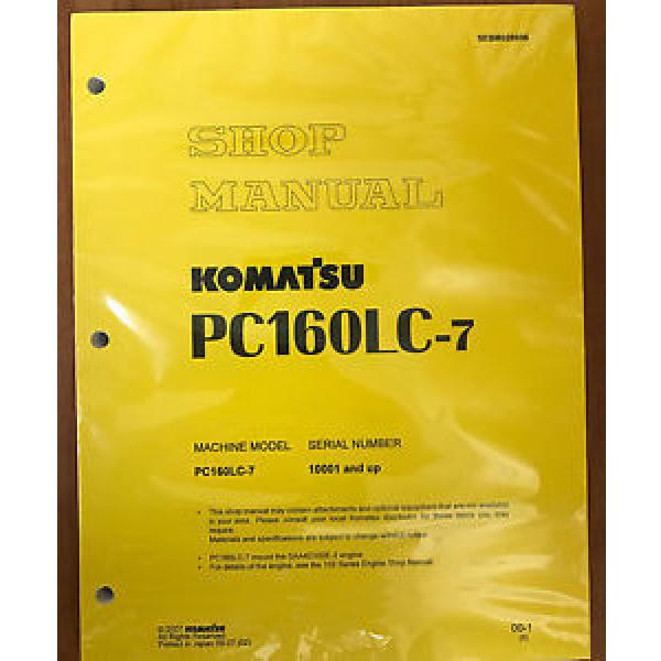 Komatsu Service PC160LC-7 Shop Repair Manual NEW #1 image