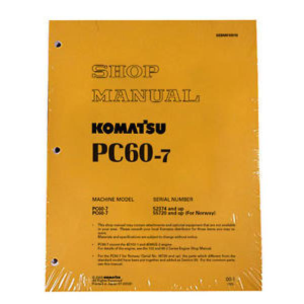 Komatsu Service PC60-7 Excavator Shop Manual #1 #1 image