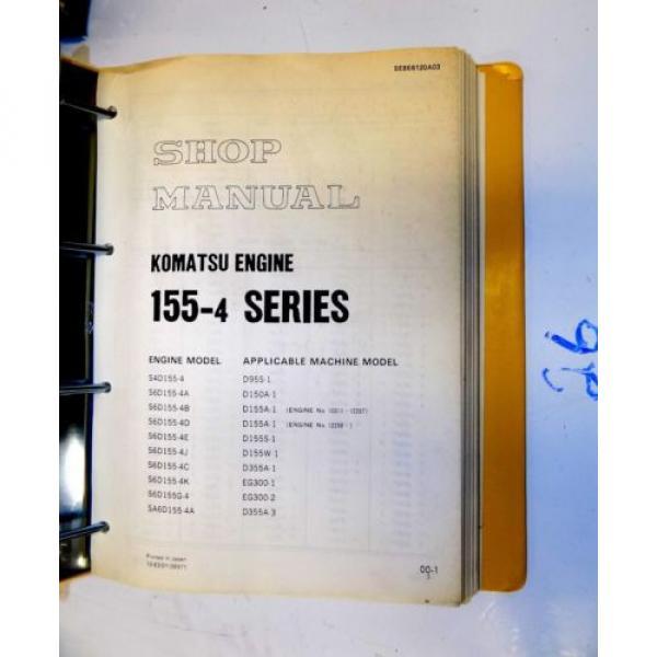KOMATSU 155-4 SERIES ENGINE SHOP MANUAL #2 image