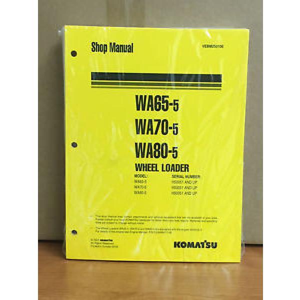 Komatsu WA65-5, WA70-5, WA80-5 Wheel Loader Shop Service Repair Manual #1 image